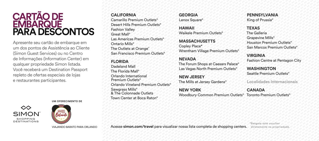 Desconto Outlet Premium International Drive