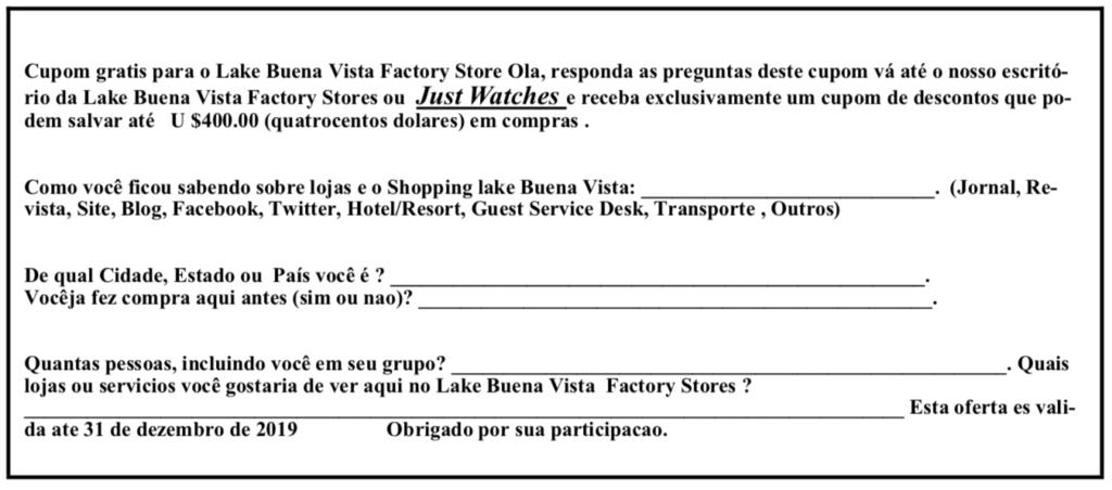 Outlet Lake Buena Vista Factory Stores