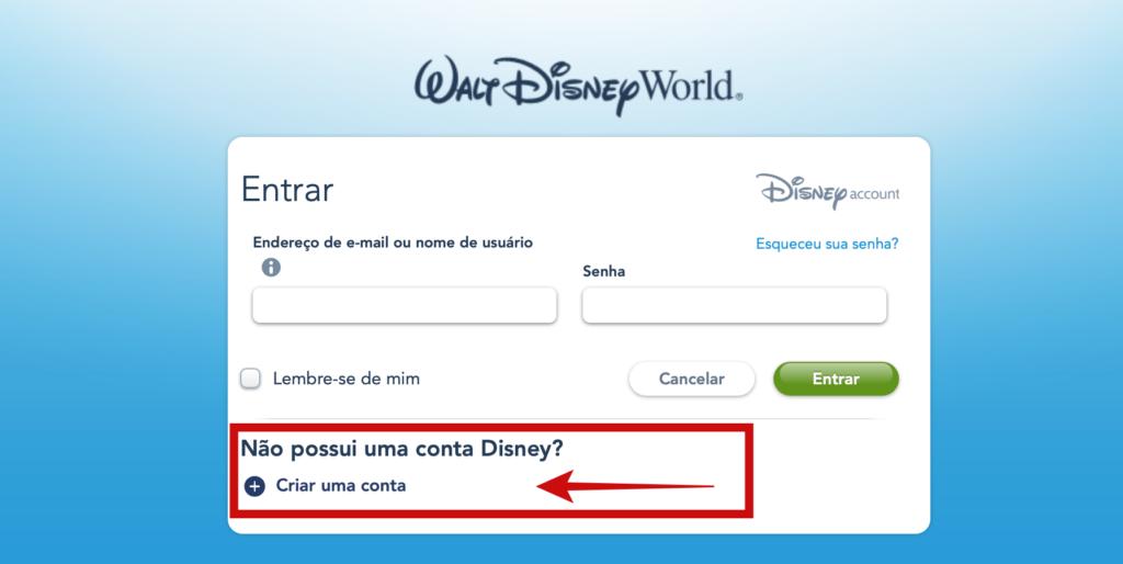 Como Criar uma conta no My Disney Experience