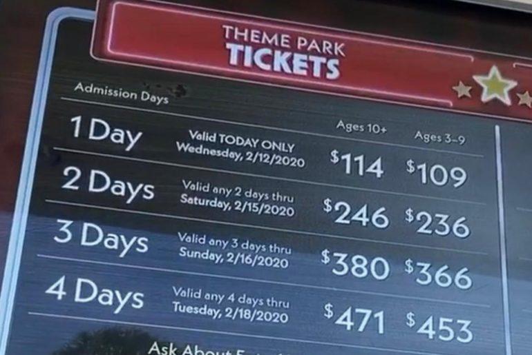 aumento nos ingressos da Disney