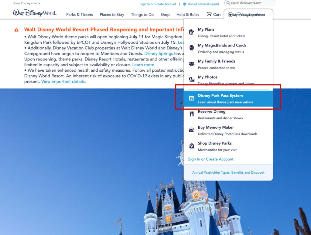 Como Fazer Reserva no Novo Sistema da Disney