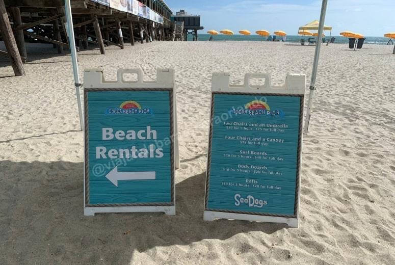 Preço aluguel de cadeiras em Cocoa Beach