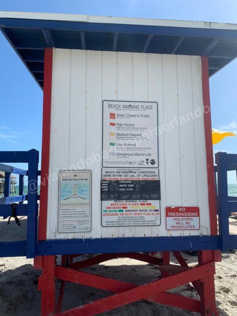 significado de bandeiras nas praias dos Eua